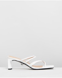 Skin - Tyree Leather Ankle Strap Heels