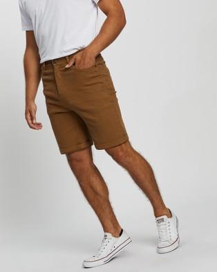 Staple Superior Organic Organic Five Pocket Shorts - Chino Shorts (Latte)