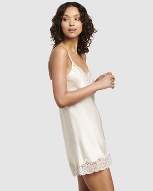GINIA Pick & Mix Silk Chemise - Sleepwear (Ivory)