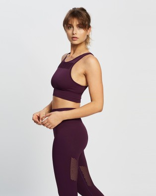 AVE Activewoman High Compression Seamless Crop Top - Crop Tops (Plum)