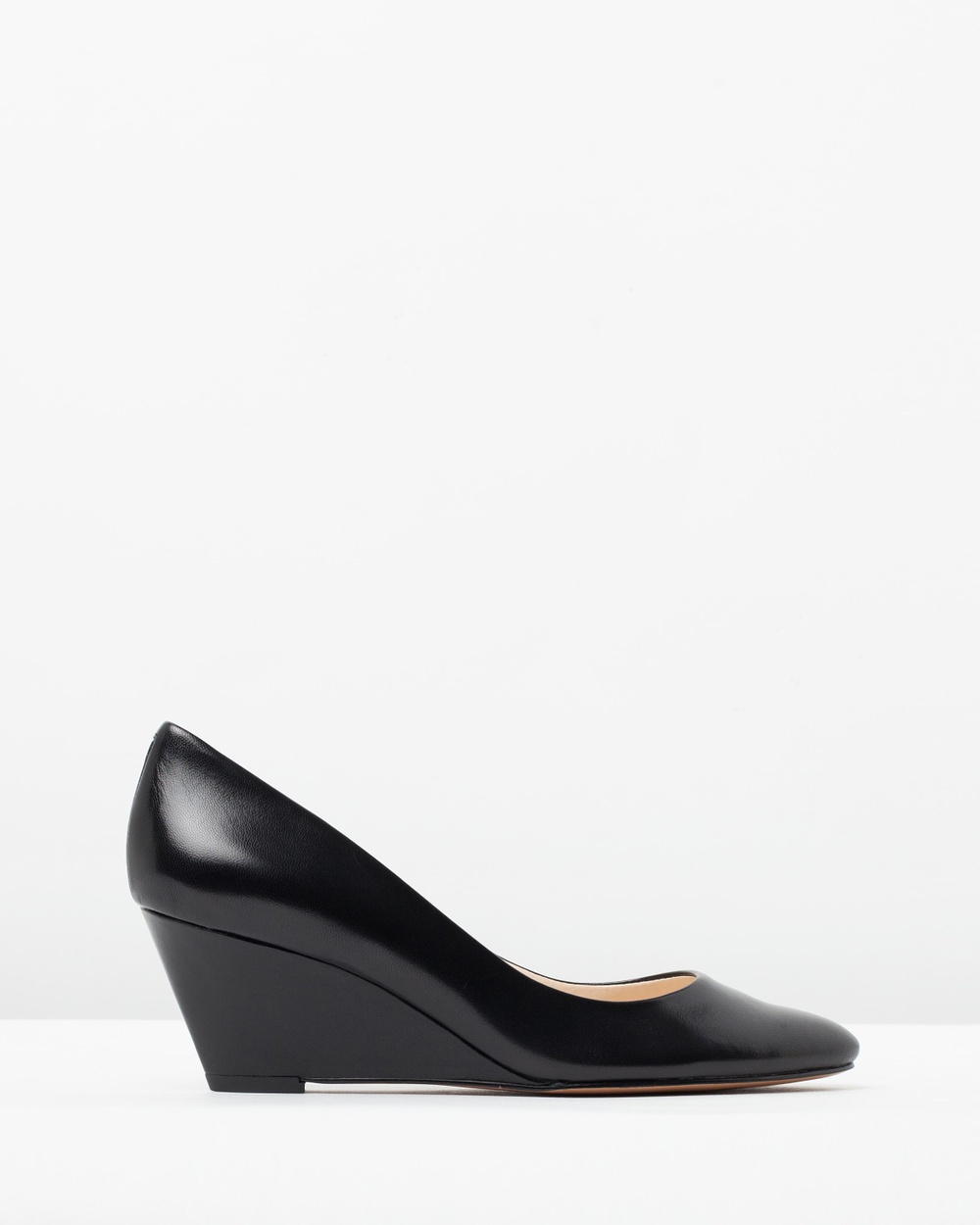Nine West Lupetto Wedges Black Leather Lupetto