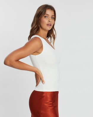 Atmos&Here Darcy One Shouldered Top - Cropped tops (White)