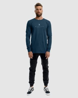 Xander Palace Long Sleeve Tee - T-Shirts & Singlets (BLUE)