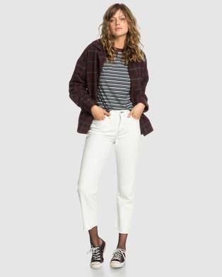 Quiksilver Quiksilver Womens Originals Loose Fit Jean - Jeans (LILY WHITE)