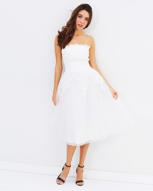 Chi Chi London – Selena Dress – Dresses (White)