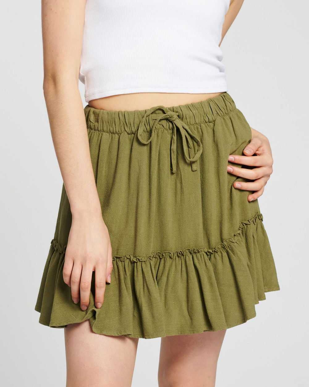 All About Eve Savanna Washed Skirt Skirts Green