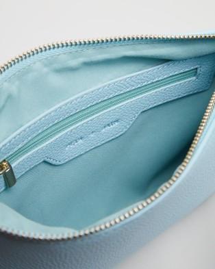 PETA AND JAIN Kourtney Crossbody Bag - Clutches (Baby Blue Pebble)