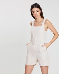 Assembly Label - Wide Strap Linen Playsuit