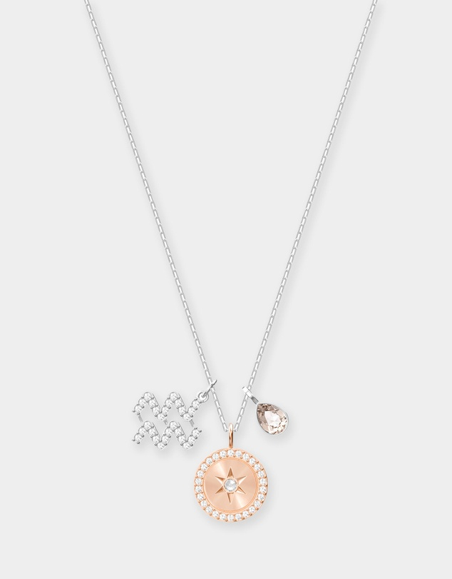 Swarovski - Aquarius Zodiac Pendant Necklace