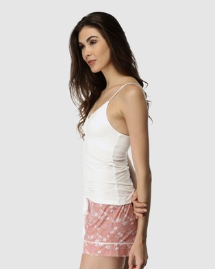 Deshabille Sleepwear  Spring Blooms Short & Cami Set - Two-piece sets (Pink)