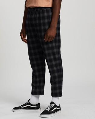 Stussy Ethan Check Street Pants - Pants (Grey & Black)
