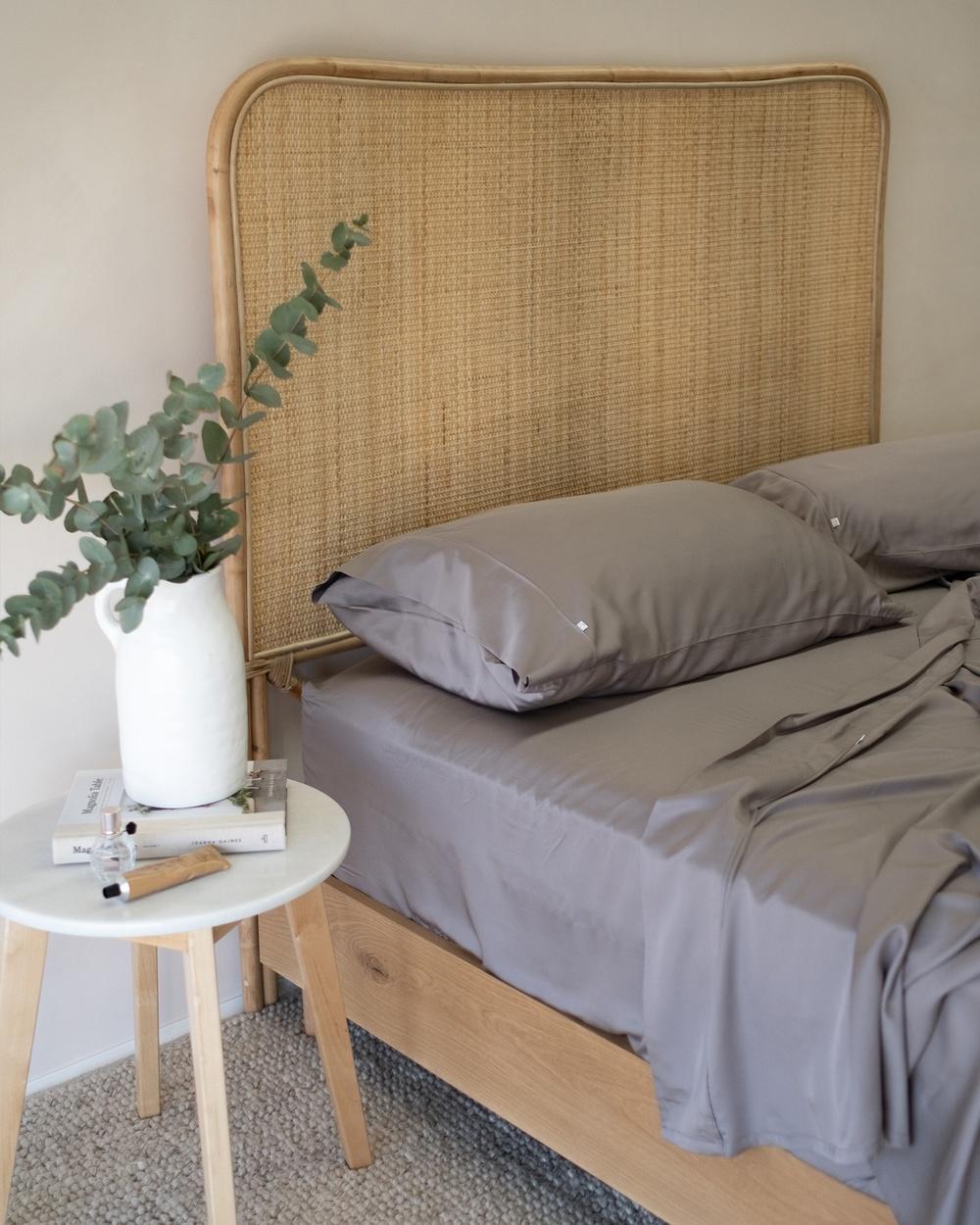Mulberry Threads 100% Organic Bamboo Sheet Set Home Grey Australia