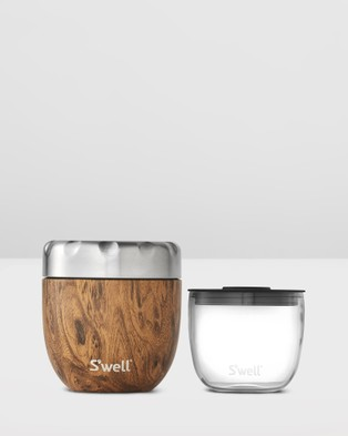 S'well Eats Insulated Food Container Wood Collection 470ml - Home (Brown)