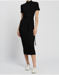 SPURR - Hannah Rib Midi Knit Dress