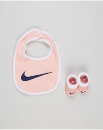 Nike - Core Swoosh Bib & Booties Two-Piece Set - Babies