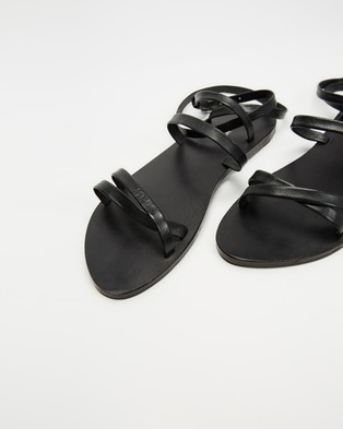 Atmos&Here Ruth Leather Sandals - Sandals (Black Leather)