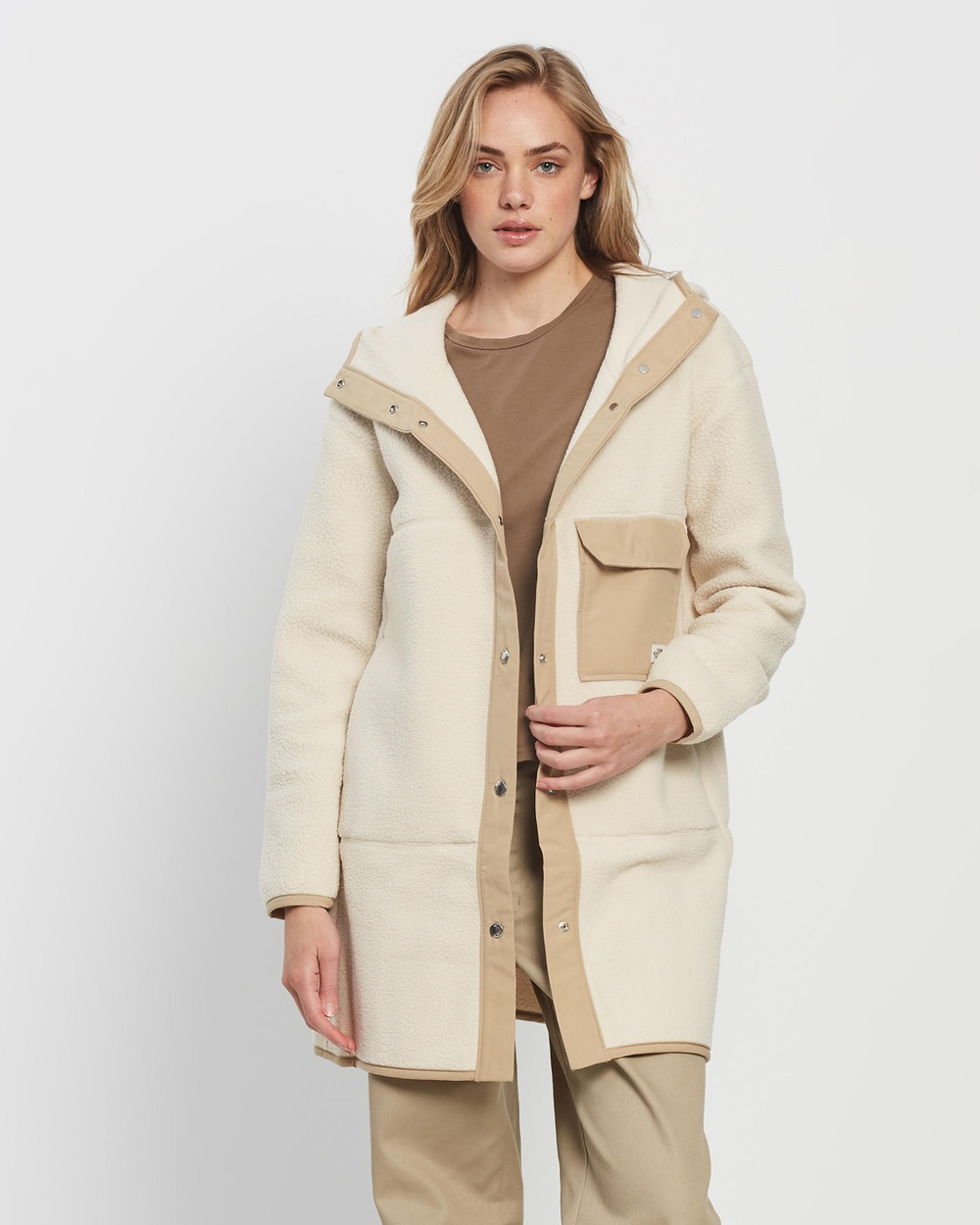 The North Face Cragmont Fleece Coat Coats & Jackets Bleached Sand Hawthorne Khaki