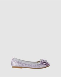 Candy - Charm Double Bow Ballet Flats