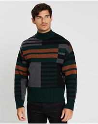 CERRUTI 1881 - Geometric Knitted Jumper