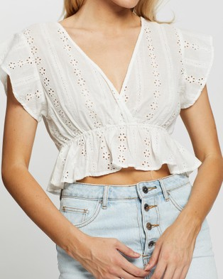 Rusty Beach Bliss Shirt - Cropped tops (White)