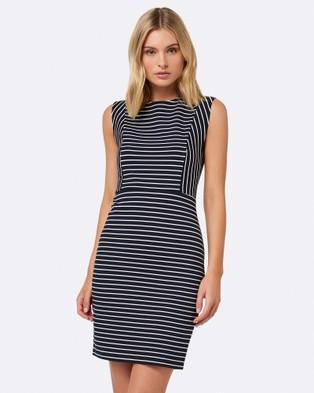 Forever New – Bailey Striped Day Dress Navy & Porcelain Stripe