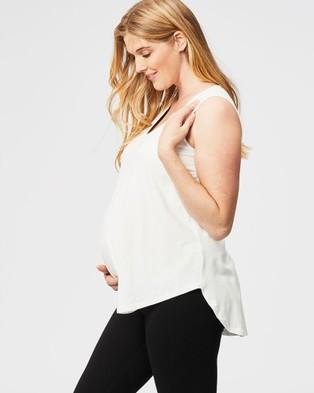 Cake Maternity - Gum Drops Nursing Swing Top T-Shirts & Singlets (White)