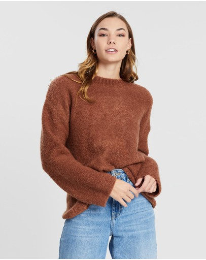 Assembly Label Textured Knit Terracotta