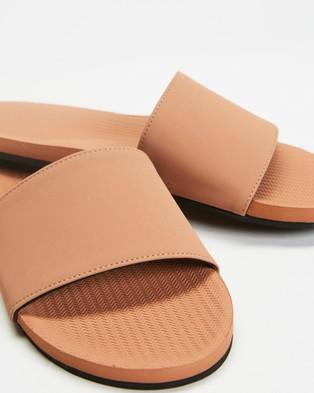 Indosole ESSENTLS Slides   Women's - Sandals (Rust)