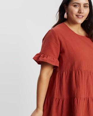 Atmos&Here Curvy Lily Smock Dress Dresses Desert Rose