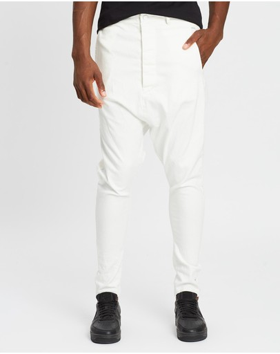 Surrounded By Ghosts The Haxonite Super Low Crotch Tailored Pants White