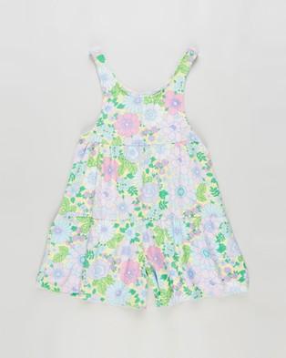 Cotton On Kids Bella Playsuit   Kids - Printed Dresses (Lemon Drop & Retro Floral)