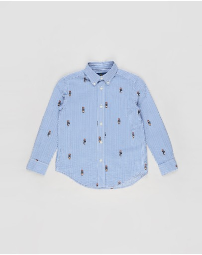 Polo Ralph Lauren - LS Button-Down Printed Seersucker Shirt - Kids