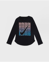 Nike - Shimmer JDI Splice Long Sleeve Tee - Kids