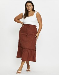 You & All - Plus Side Slit Maxi Skirt