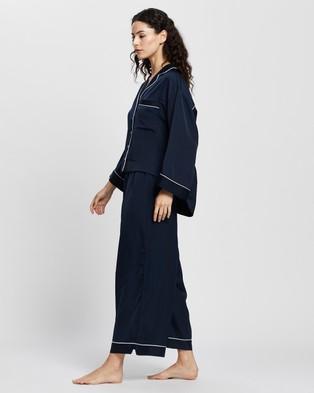 Homebodii Elle Oversized Long PJ Set - Two-piece sets (Navy)