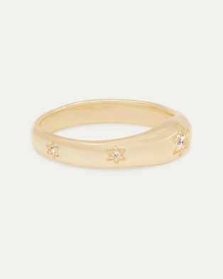 By Charlotte - Align Your Soul Ring - Jewellery (Gold) Align Your Soul Ring