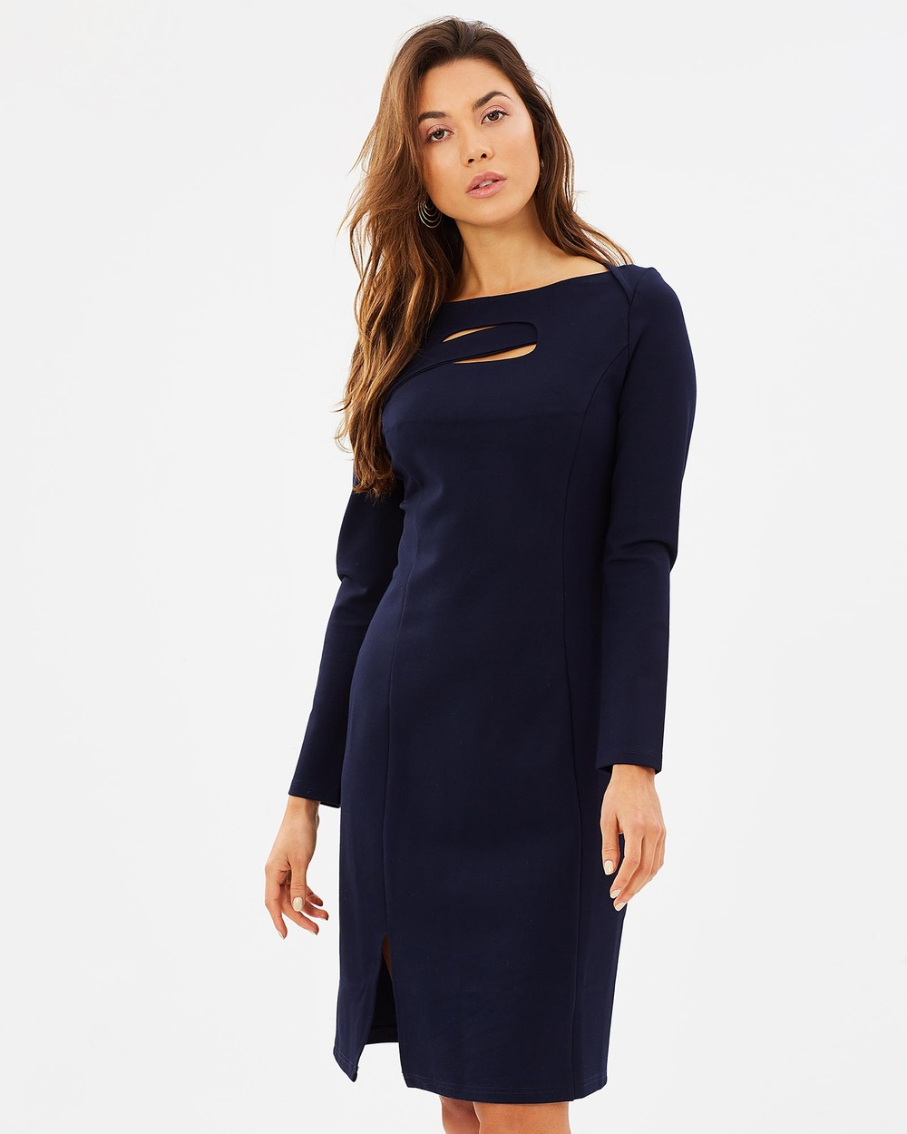 Privilege Cosmopolitan Cutout Dress Dresses Navy Cosmopolitan Cutout Dress