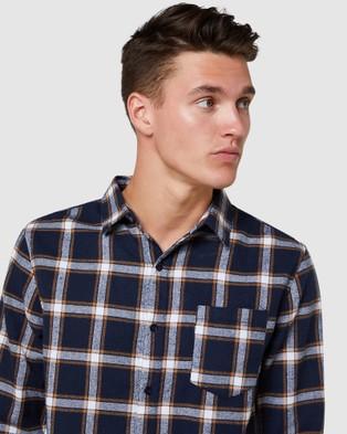 Elwood Milton LS Shirt - Shirts & Polos (Navy/Orange)