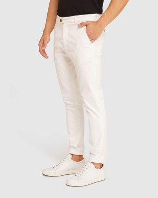 Oxford Luka Stretch Casual Pants - Pants (White)