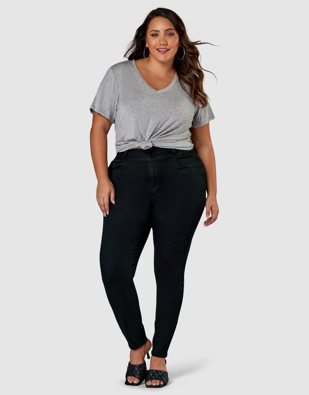 Women Angie 3 Button Skinny Waist Trimmer Jeans