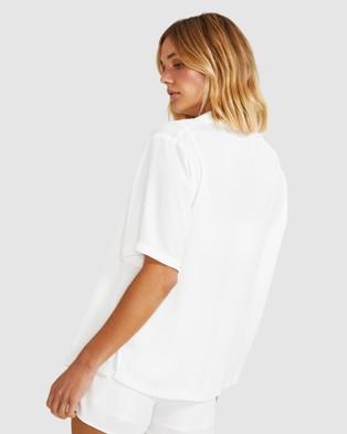 Alice In The Eve Ellie Sateen Boyfriend Shirt - Tops (WHITE)