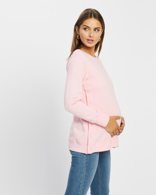 Cotton On Maternity - Button Side Fleece The Iconic Exclusive Sweats (Prism Pink)