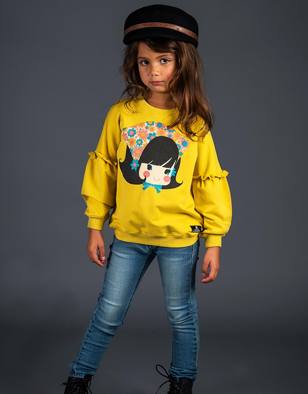 Rock Your Kid - Gidget Puff Sleeve Sweatshirt - Kids