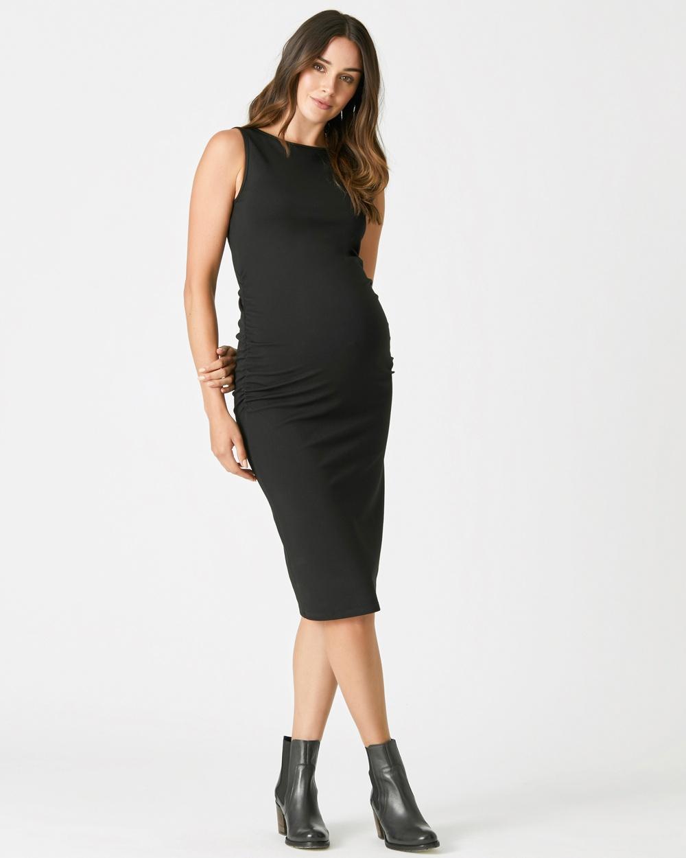 Pea in a Pod Maternity Blair Dress Bodycon Dresses Black Blair Dress