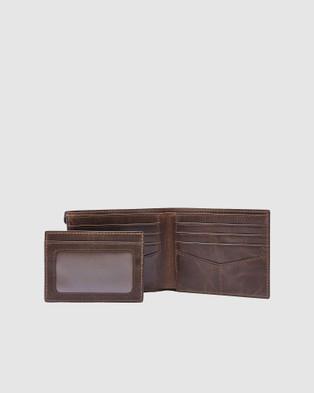 Fossil Derrick Wallet - Wallets (Dark Brown)