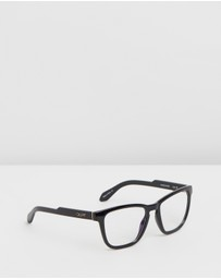 Quay Australia - Hardwire Black Square Blue Light Glasses