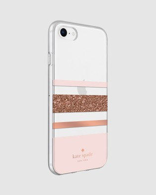 Kate Spade Kate Spade New York Protective Case for iPhone SE,8,7,6 - Tech Accessories (Pink)