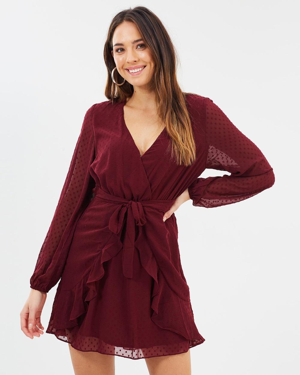 Fresh Soul Bon Bon Tie Dress Dresses Burgundy Bon Bon Tie Dress