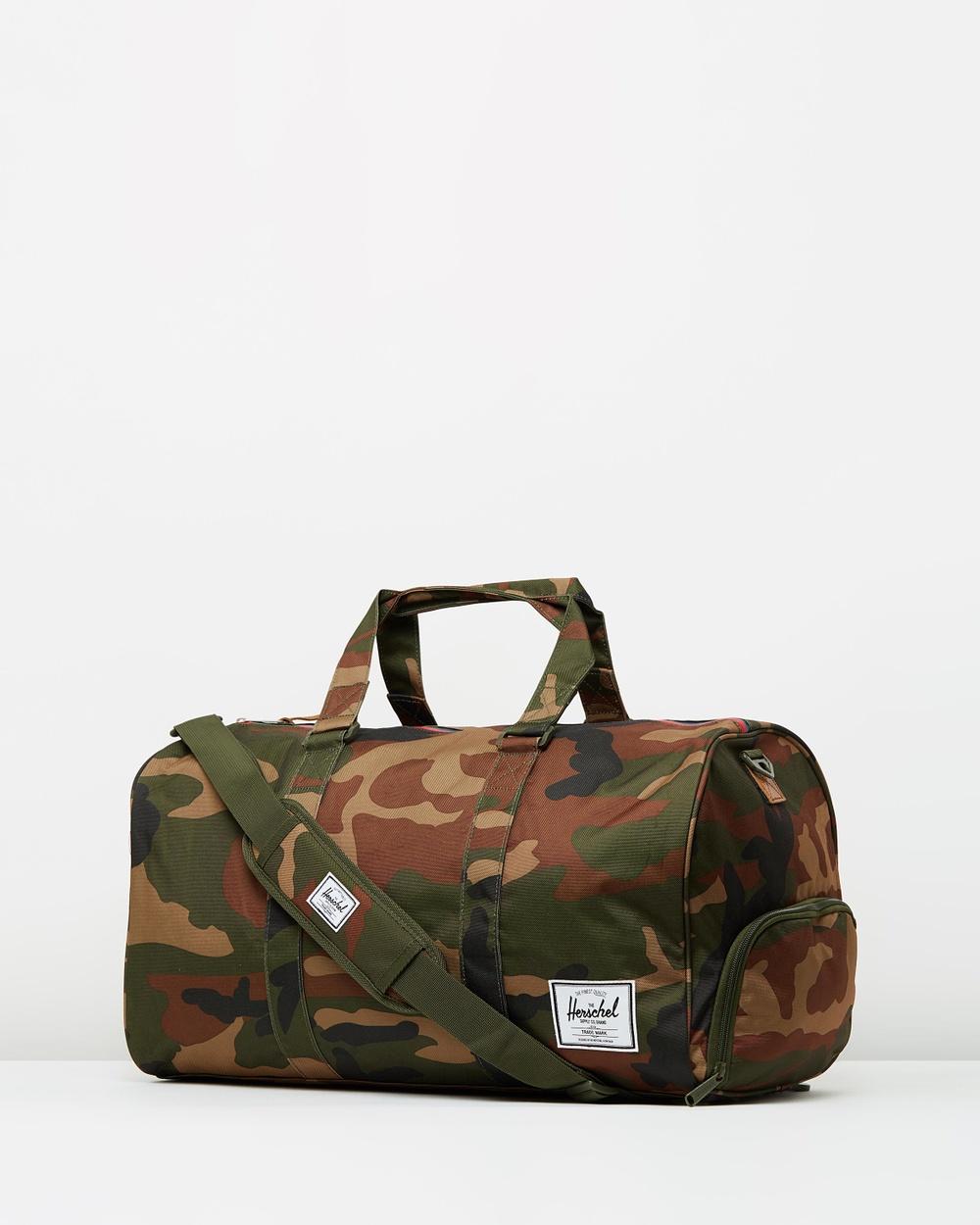Herschel Novel Duffle Bags Woodland Camo & Multi Zip