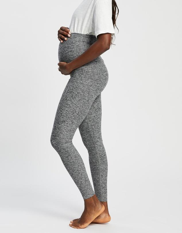 Women Maternity Love The Bump Midi Leggings